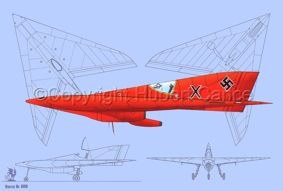 Horten Ho XIIIb (Blueprints #1) (large view)