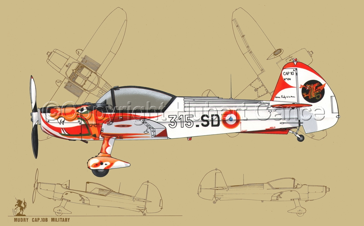 Mudry CAP-10B (Blueprint #3) (large view)