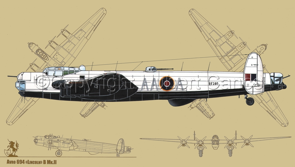 "Avro ""Lincoln"" B.2/3G #1 (Blueprint #3) (large view)"