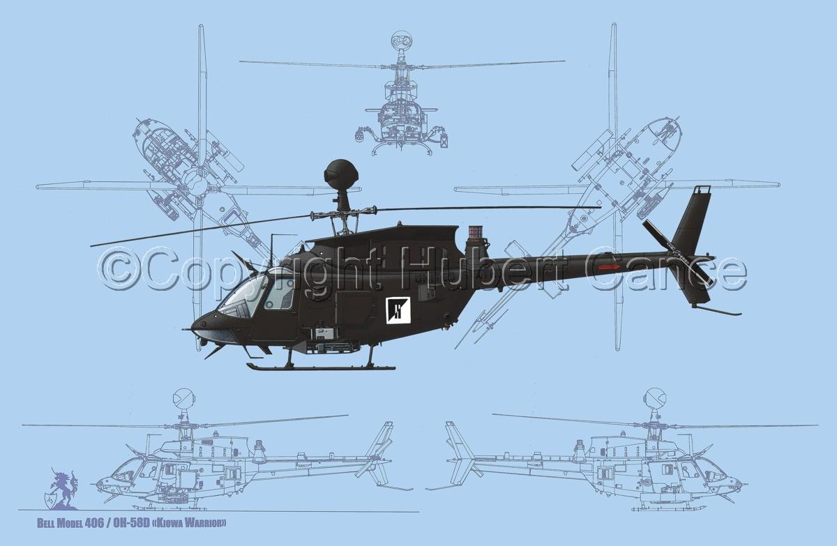 "Bell OH-58D ""Kiowa Warrior"" (Blueprint #1) (large view)"