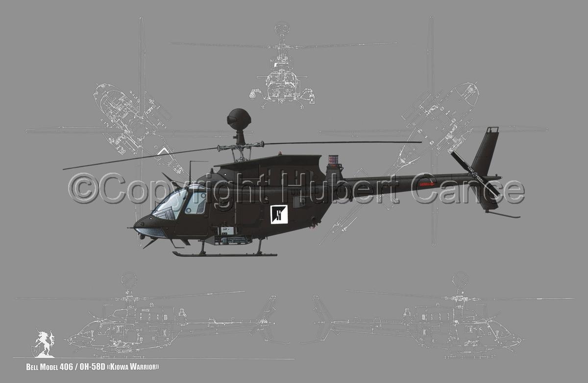 "Bell OH-58D ""Kiowa Warrior"" (Blueprint #4) (large view)"