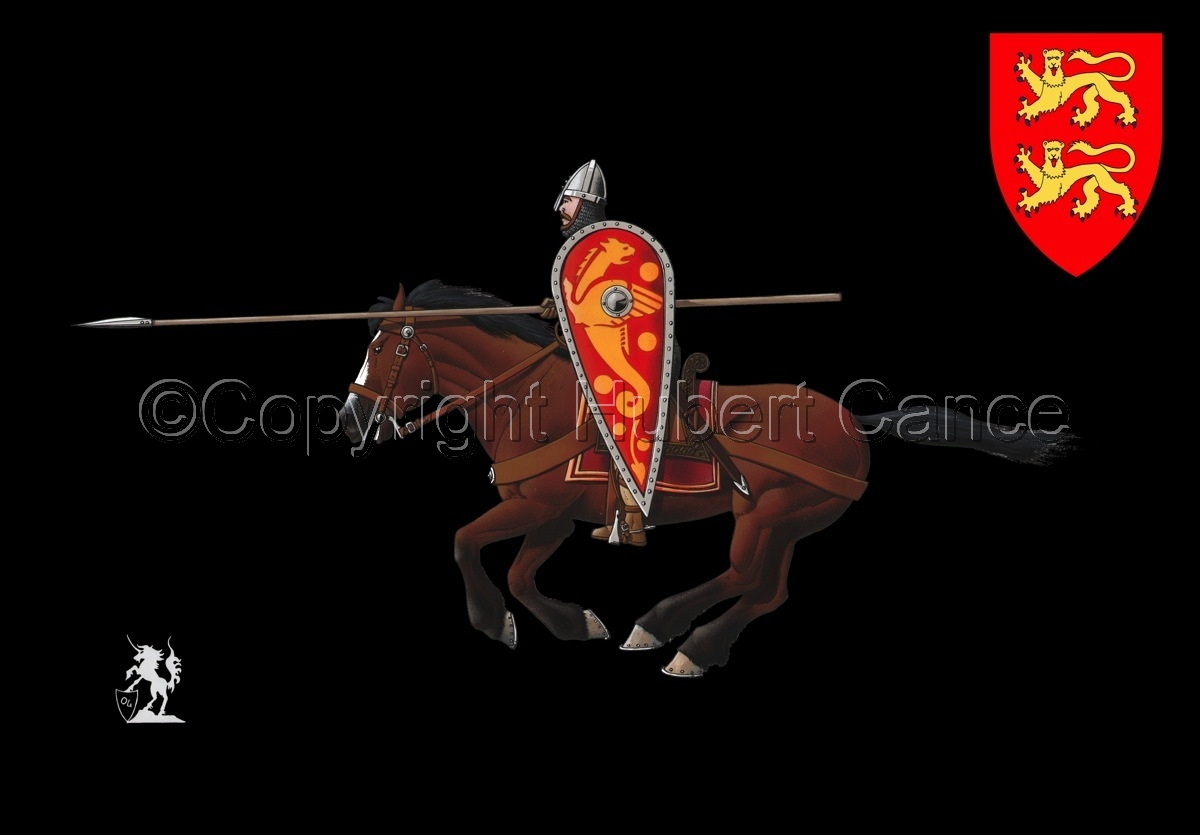 Normand Knight, Charging, Hastings (1066) (Shield #2) (large view)