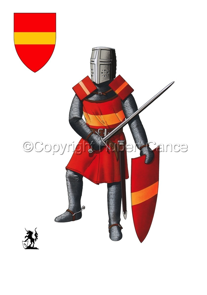 French Knight (XIIIth. Century) (Shield #1) (large view)