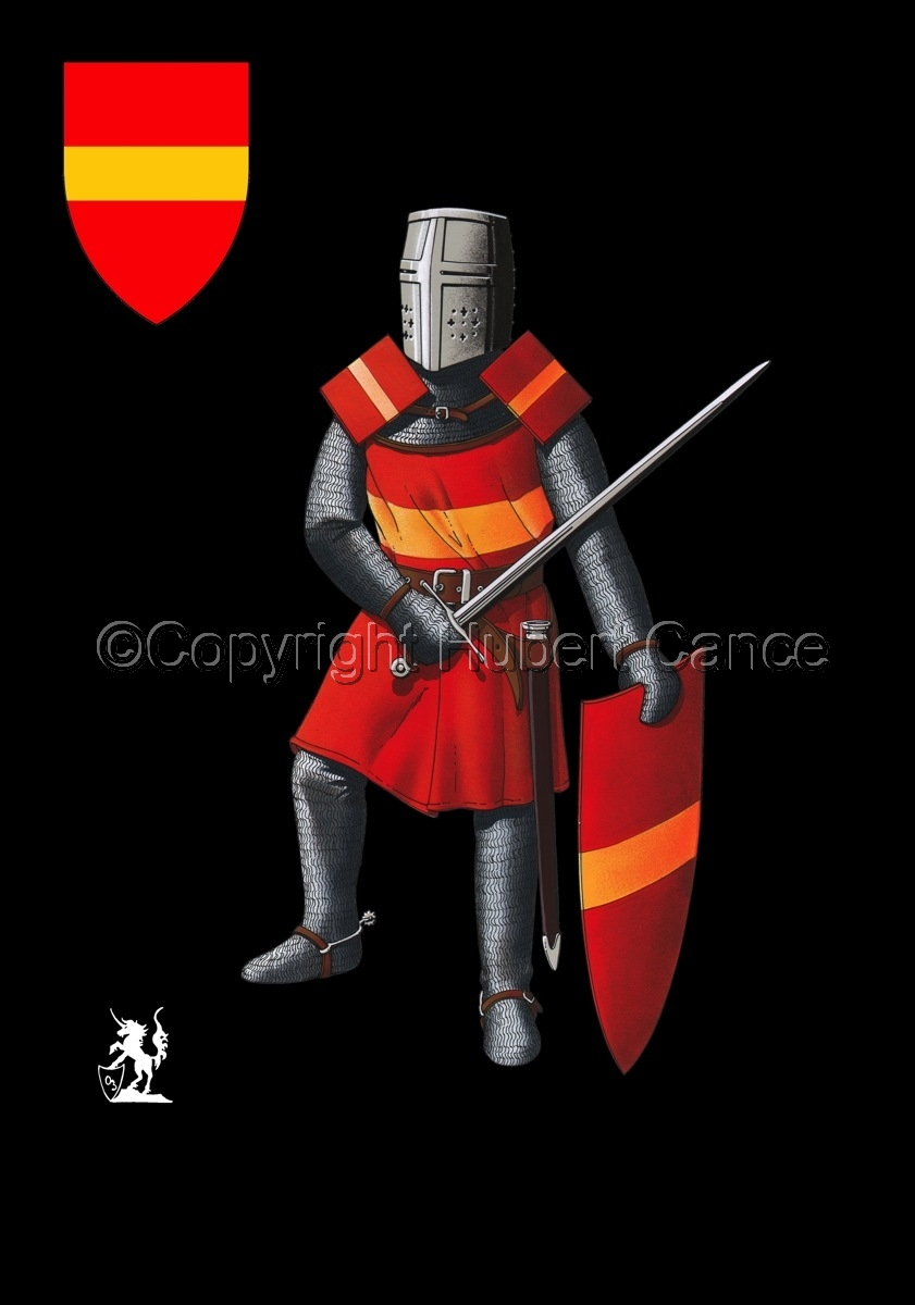 French Knight (XIIIth. Century) (Shield #2) (large view)
