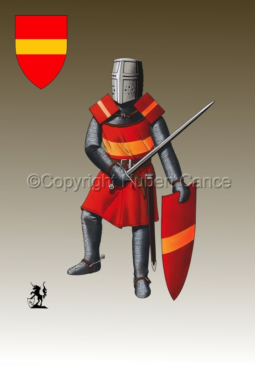 French Knight (XIIIth. Century) (Shield #3) (large view)