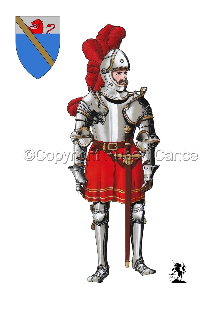 Pierre III Terrail, Knight of Bayard (1524) (Shield #1) (large view)