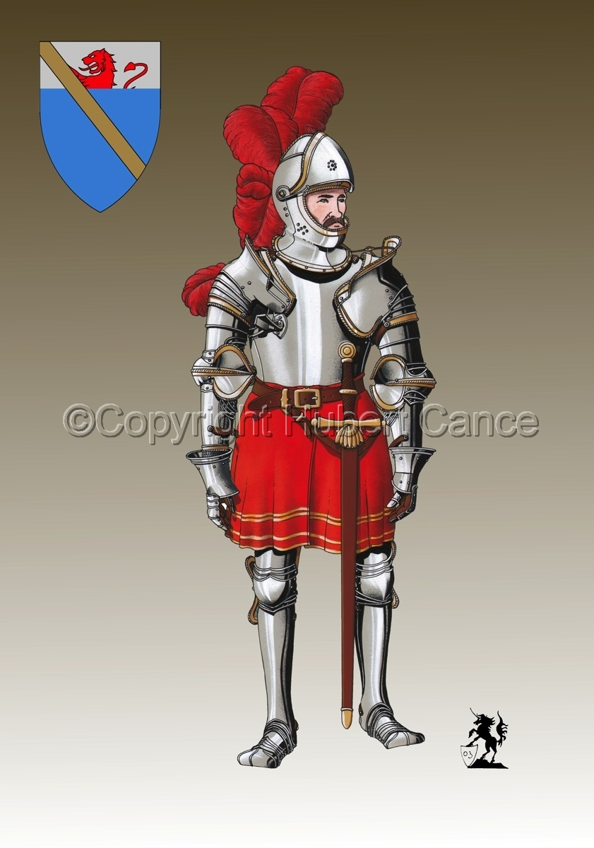 Pierre III Terrail, Knight of Bayard (1524) (Shield #3) (large view)