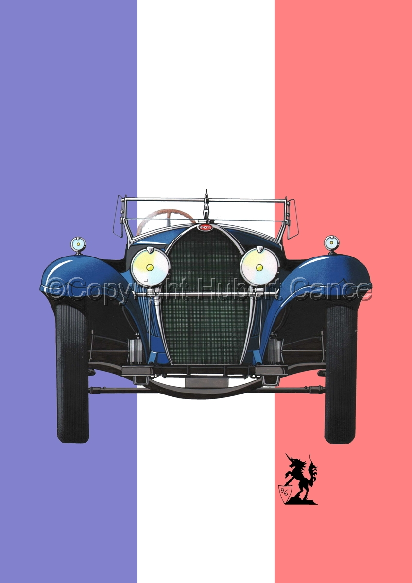 Bugatti Type 50 (Flag #1) (large view)