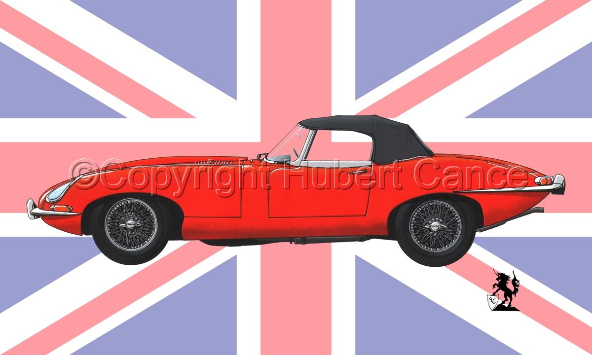 Jaguar Type E (Flag #1) (large view)