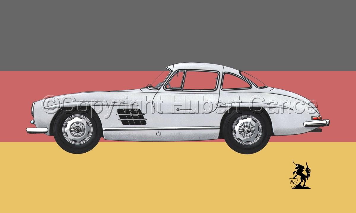 Mercedes-Benz 300SL (Flag #2) (large view)