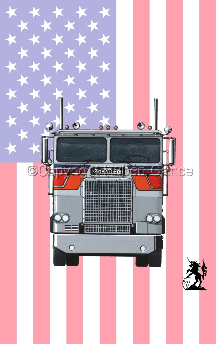Freightliner COE Tractor (Flag #1) (large view)