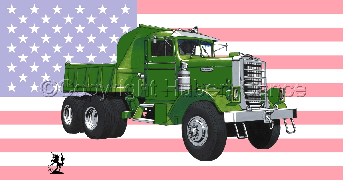 Kenworth Dump Truck (Flag #1) (large view)