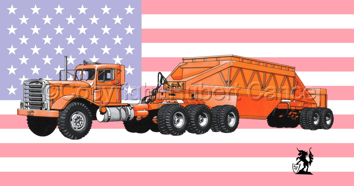 Kenworth Tractor & Dump Trailer (Flag #1) (large view)