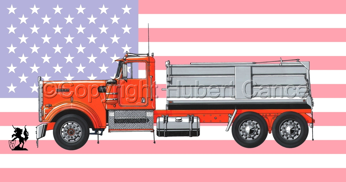 Kenworth W900 (Flag #1) (large view)