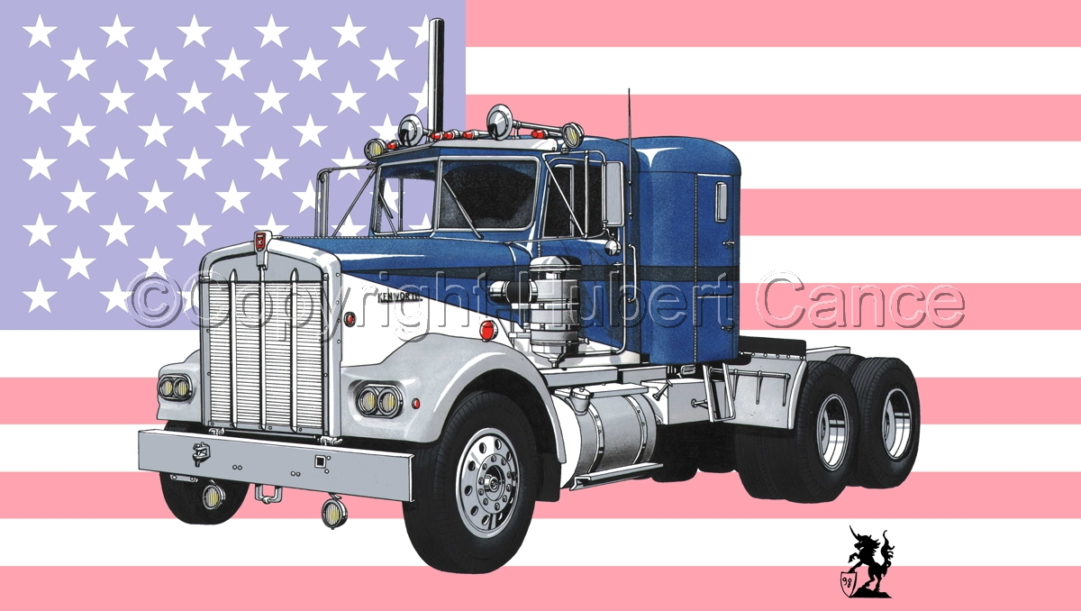Kenworth W900 Tractor (Flag #1) (large view)