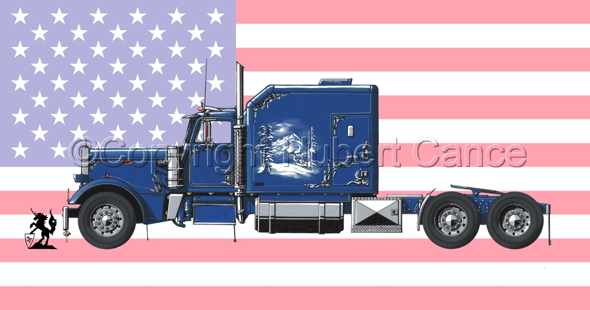 Peterbilt Tractor (Flag #1) (large view)