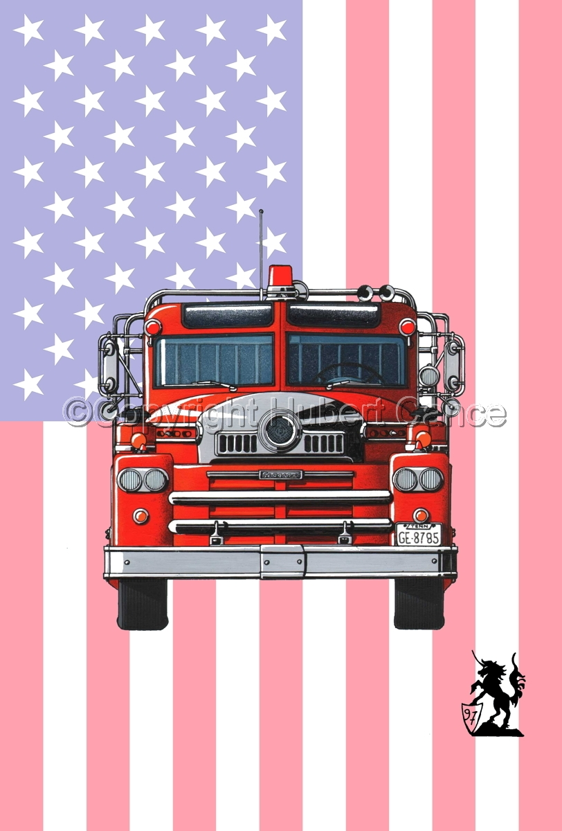 Seagrave 1958 Fire Truck (Flag #1) (large view)