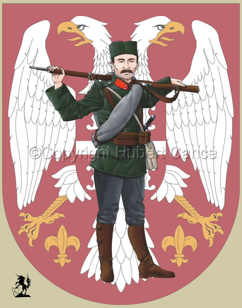 Corporal, Serbian Infantry (1914) (Insignia #1) (large view)