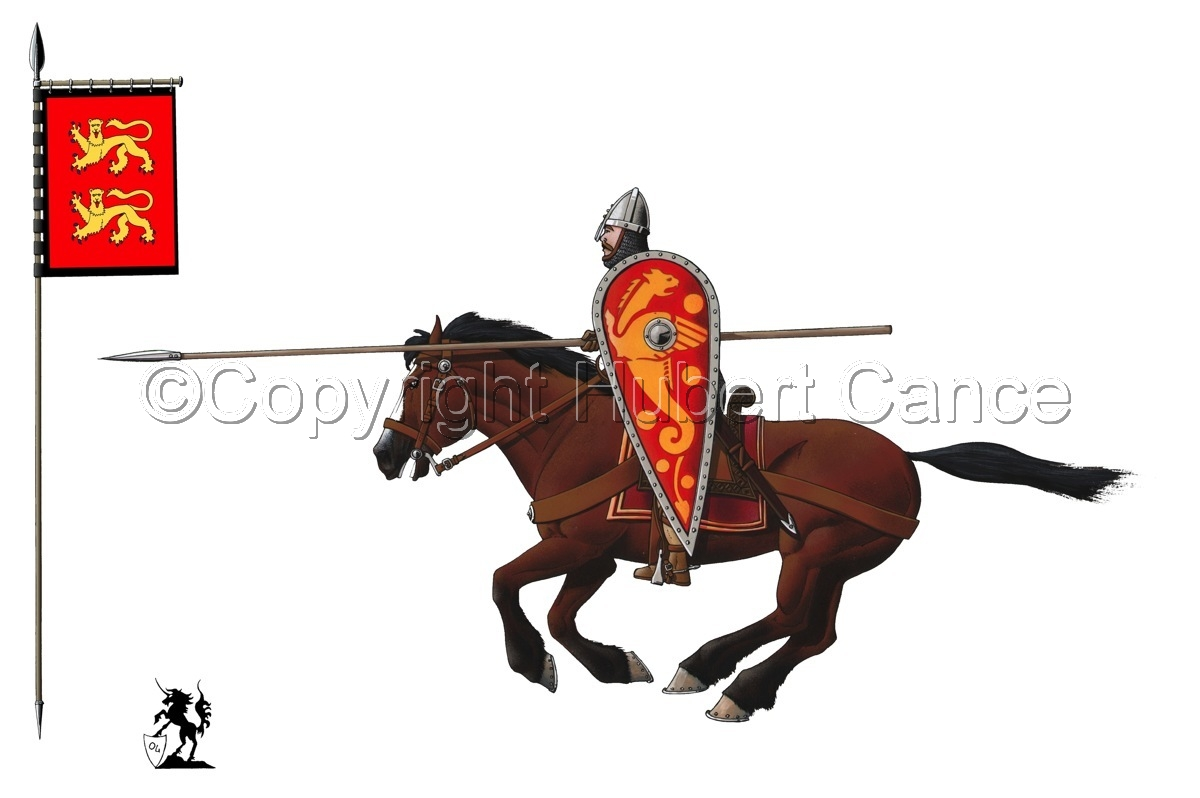 Normand Knight, Charging, Hastings (1066) (Banner #1) (large view)