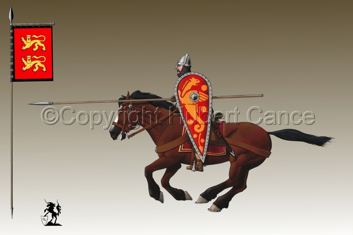 Normand Knight, Charging, Hastings (1066) (Banner #3) (large view)