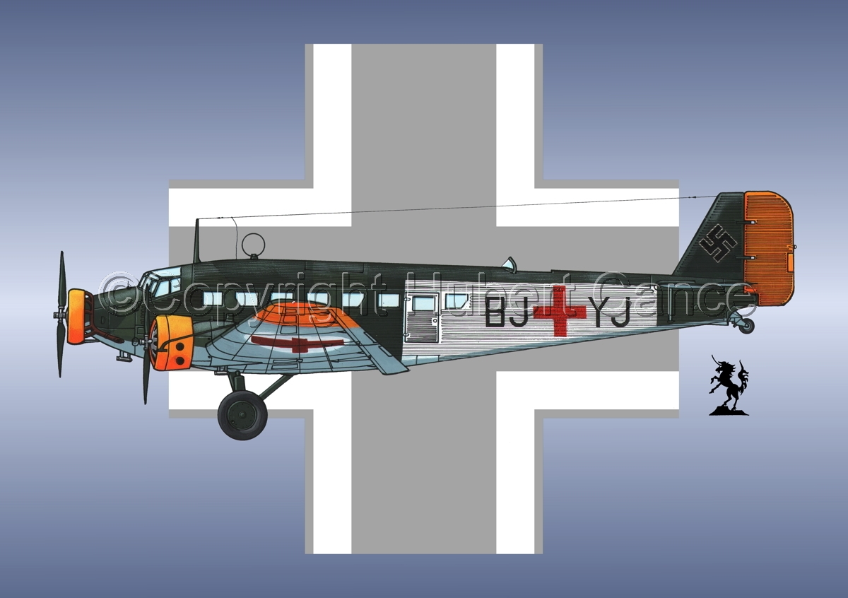 Junkers Ju 52/3m Sanitätsflugzeug (Roundel #1) (large view)