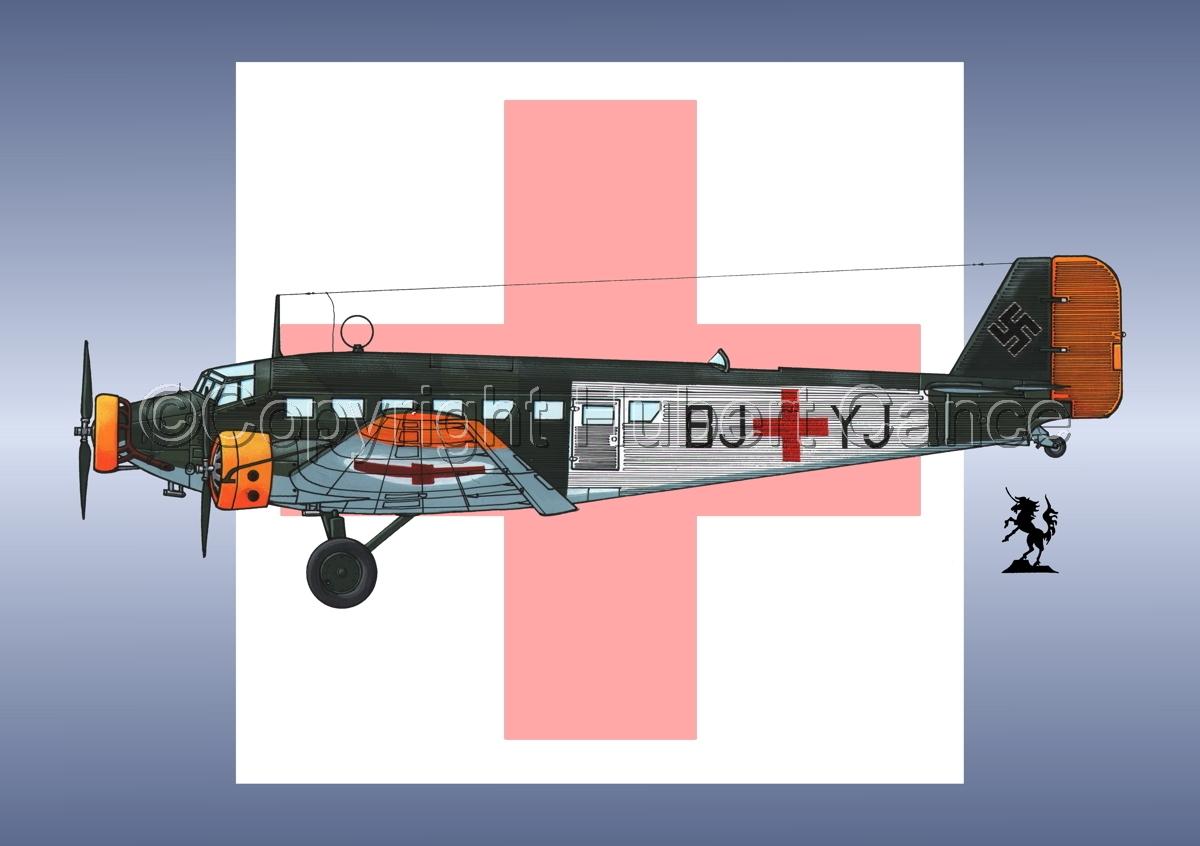 Junkers Ju 52/3m Sanitätsflugzeug (Roundel #2) (large view)