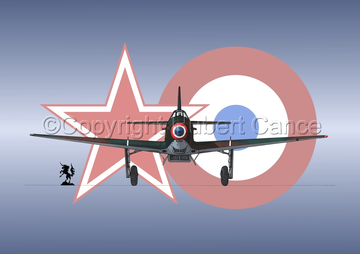Yakovlev Yak-9D (Front) (Roundel #3) (large view)