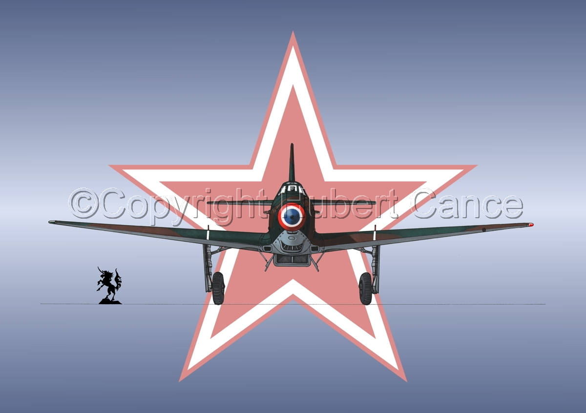 Yakovlev Yak-9D (Front) (Roundel #1) (large view)