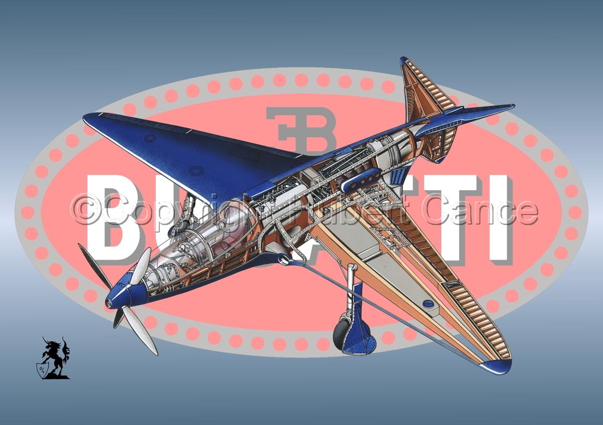 """Bugatti racer"" (Logo #1) (large view)"