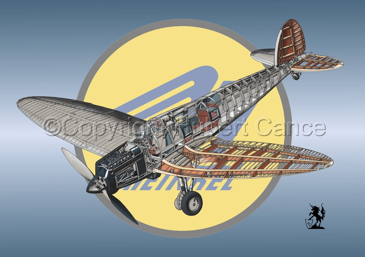 Heinkel He.70G Airliner (Logo #1) (large view)