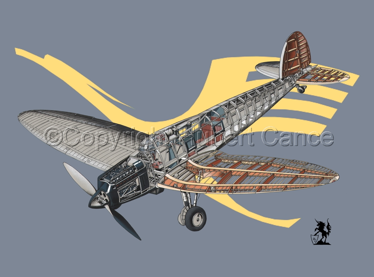 Heinkel He 70G Airliner (Insignia #1) (large view)