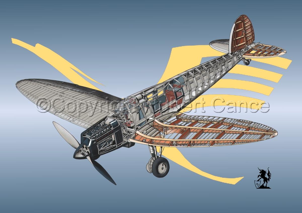 Heinkel He 70G Airliner (Logo #3) (large view)