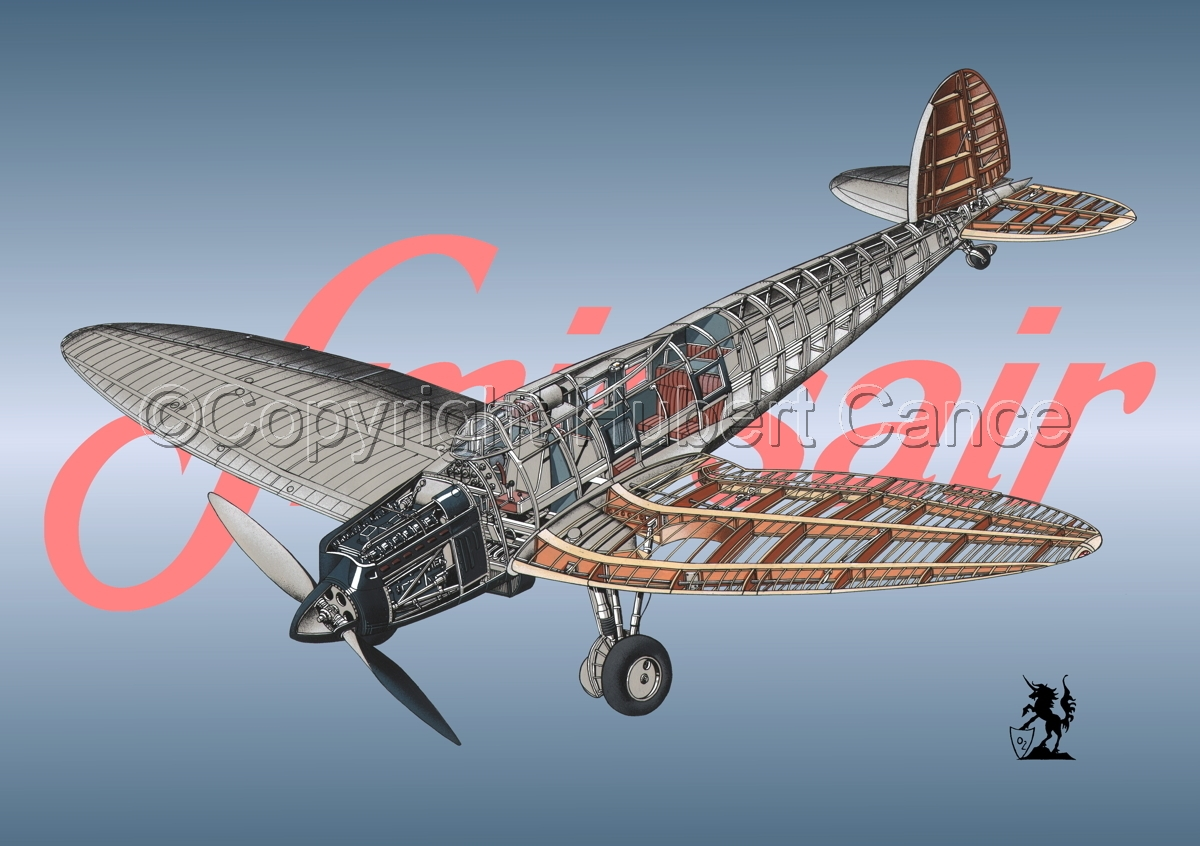 Heinkel He 70G Airliner (Logo #4) (large view)