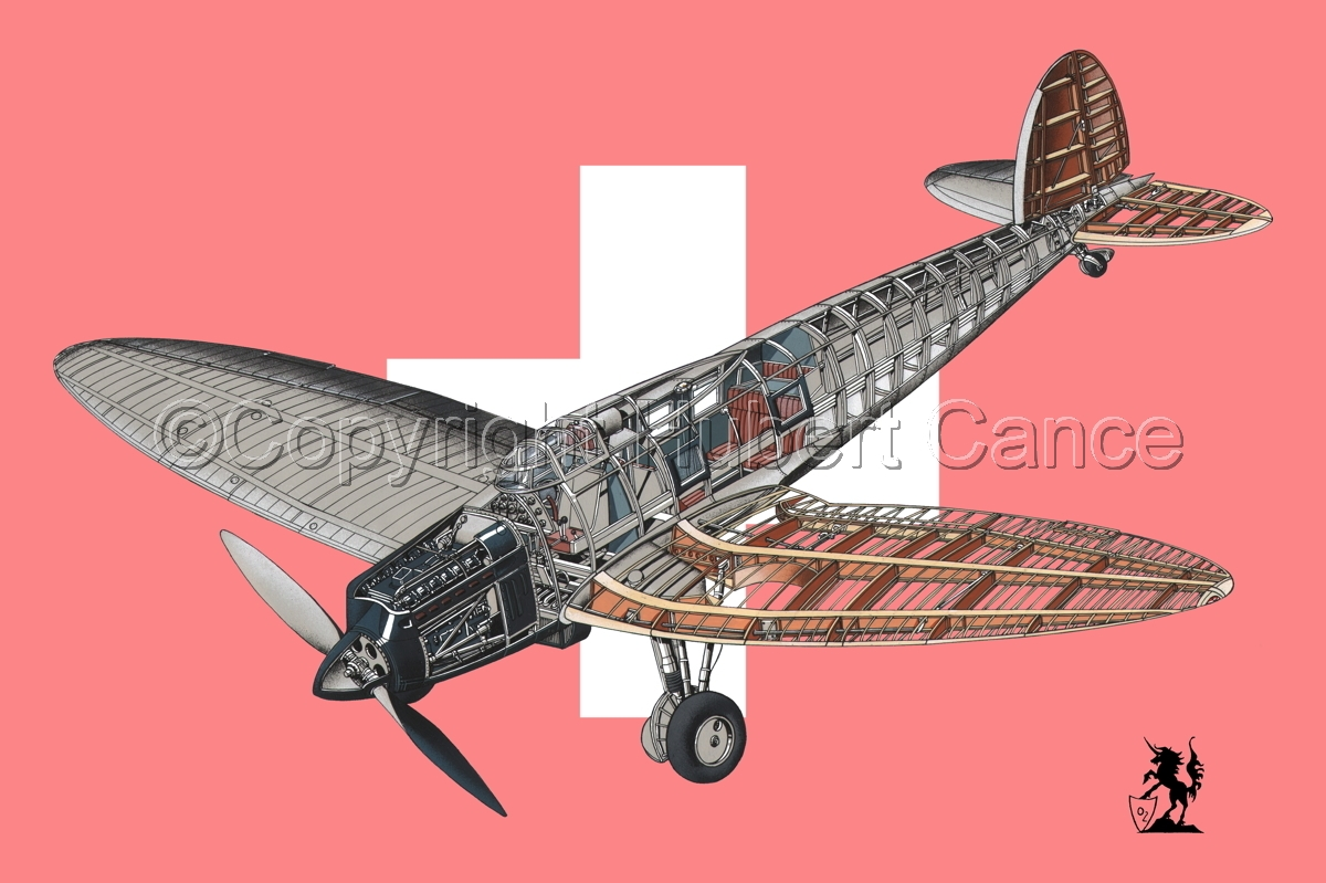Heinkel He.70G Airliner (Flag #3) (large view)