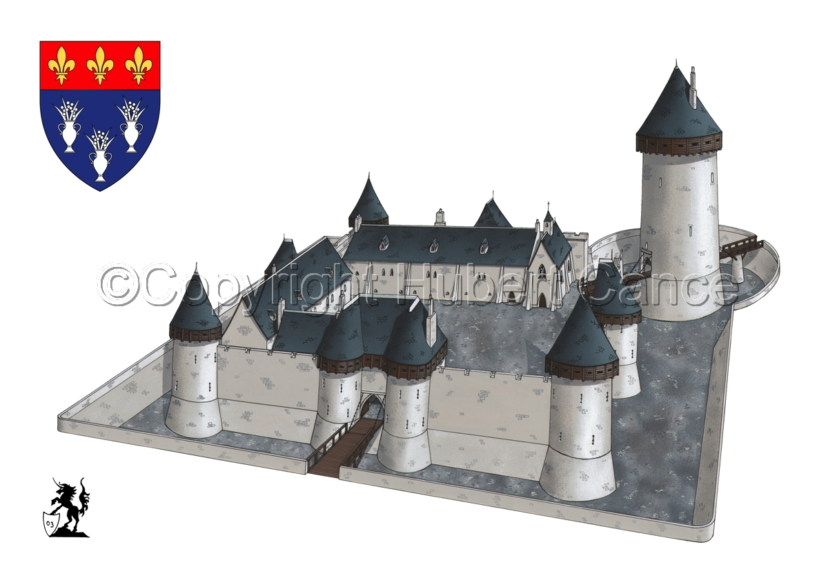 Chateau de Dourdan (Shield #1) (large view)