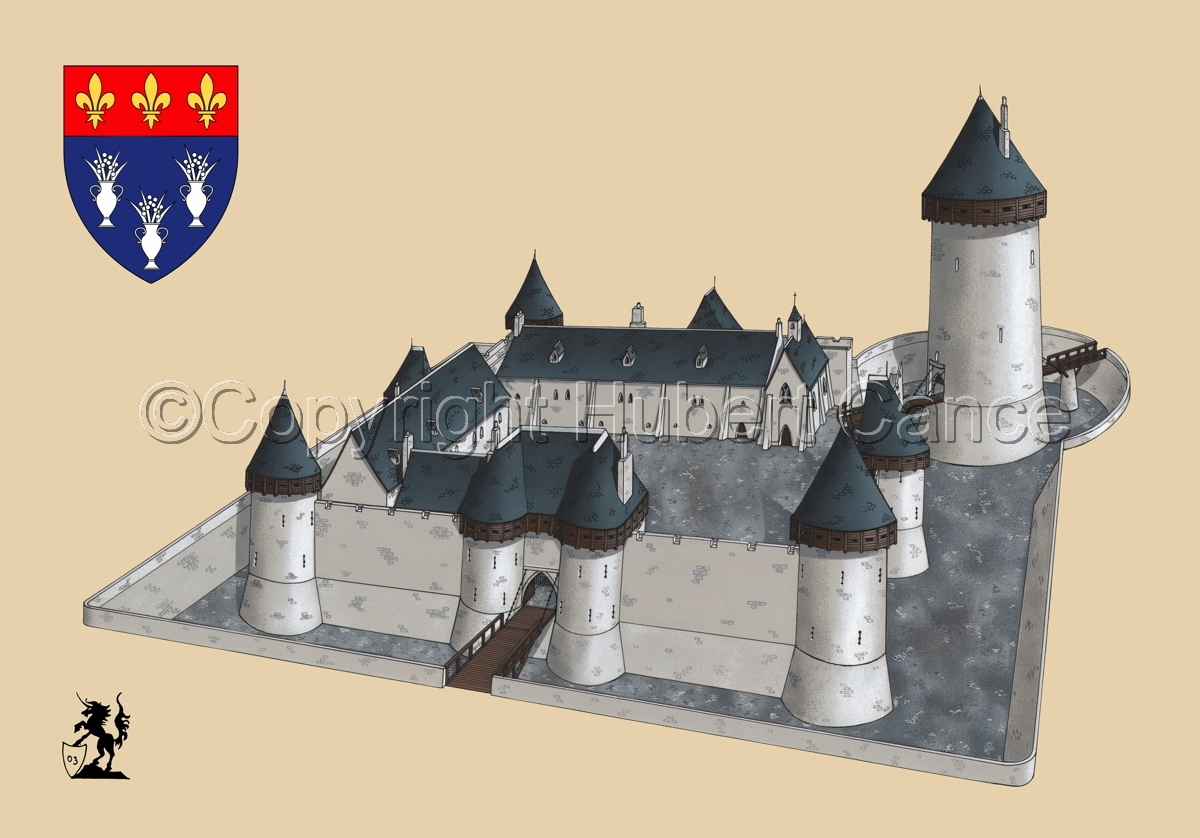 Chateau de Dourdan (Shield #1.2) (large view)