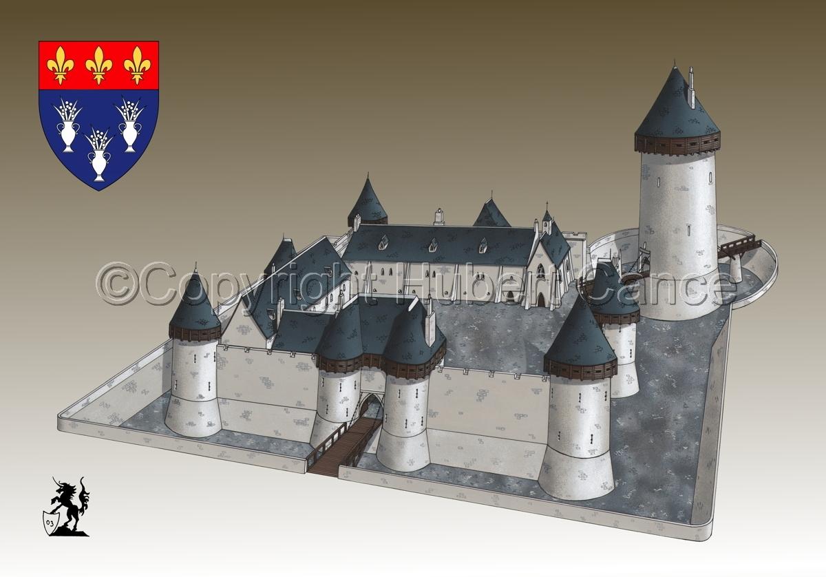 Chateau de Dourdan (Shield #1.3) (large view)