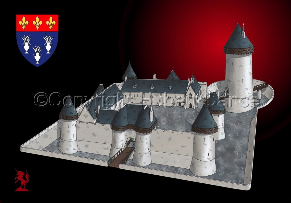 Chateau de Dourdan (Shield #1.4) (large view)