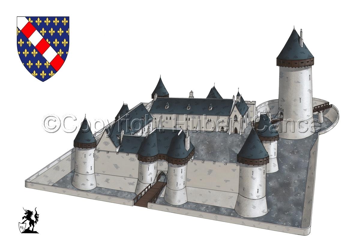 Chateau de Dourdan (Shield #2.1) (large view)