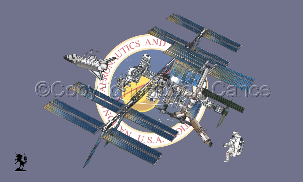 International Space Station (Flag #1) (large view)