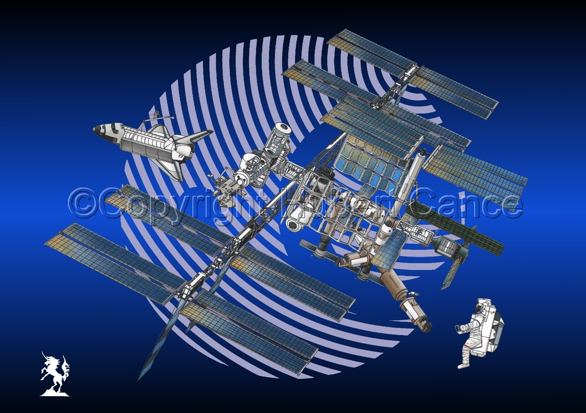 International Space Station (Logo) #2 (large view)