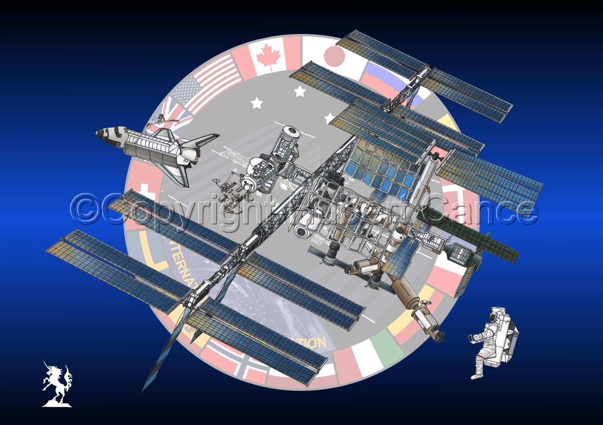 International Space Station (Logo) #3 (large view)