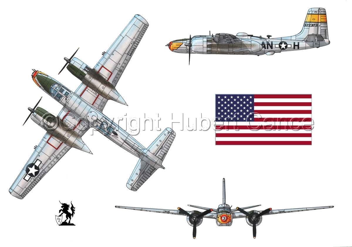 "Douglas A-26B ""Invader"" (Flag#1) (large view)"