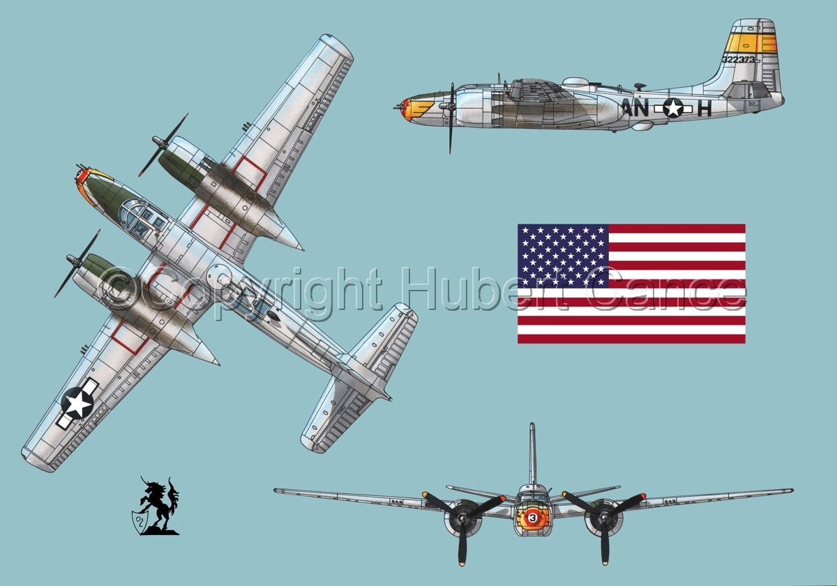 "Douglas A-26B ""Invader"" (Flag#1.1) (large view)"