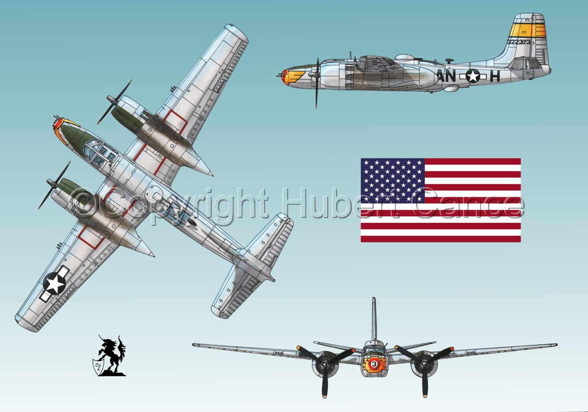 "Douglas A-26B ""Invader"" (Flag#1.2) (large view)"