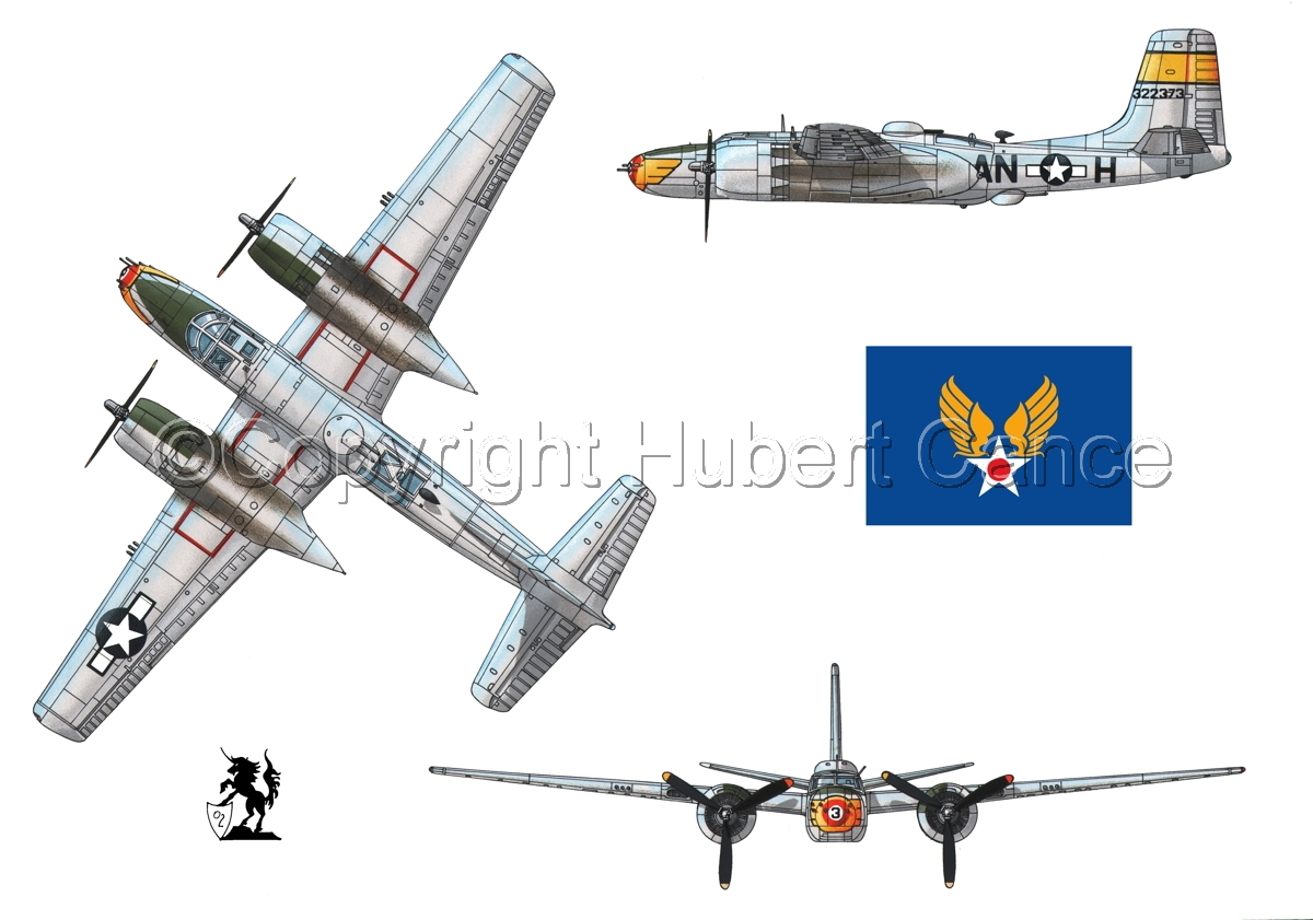 "Douglas A-26B ""Invader"" (Flag #2) (large view)"