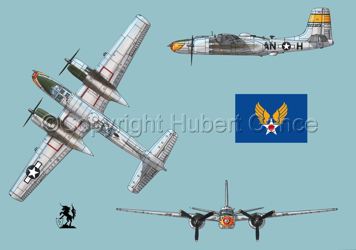 "Douglas A-26B ""Invader"" (Flag #2.1) (large view)"