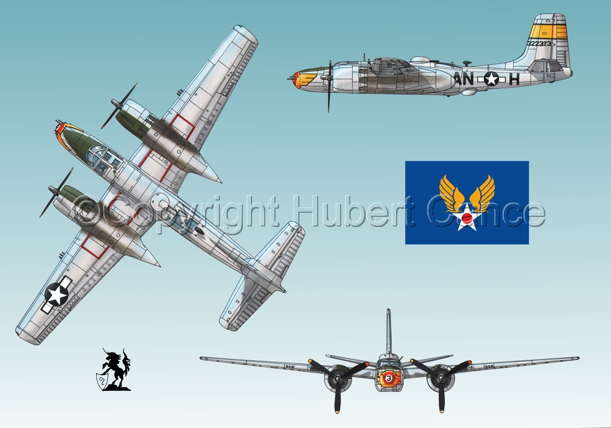 "Douglas A-26B ""Invader"" (Flag #2.2) (large view)"