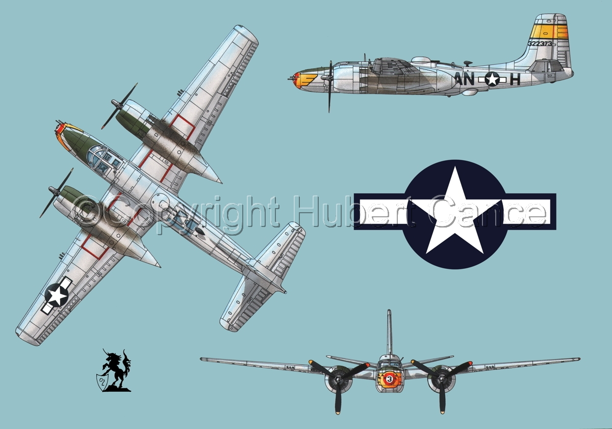 """Douglas A-26B """"Invader"""" (Roundel #1.1) (large view)"""