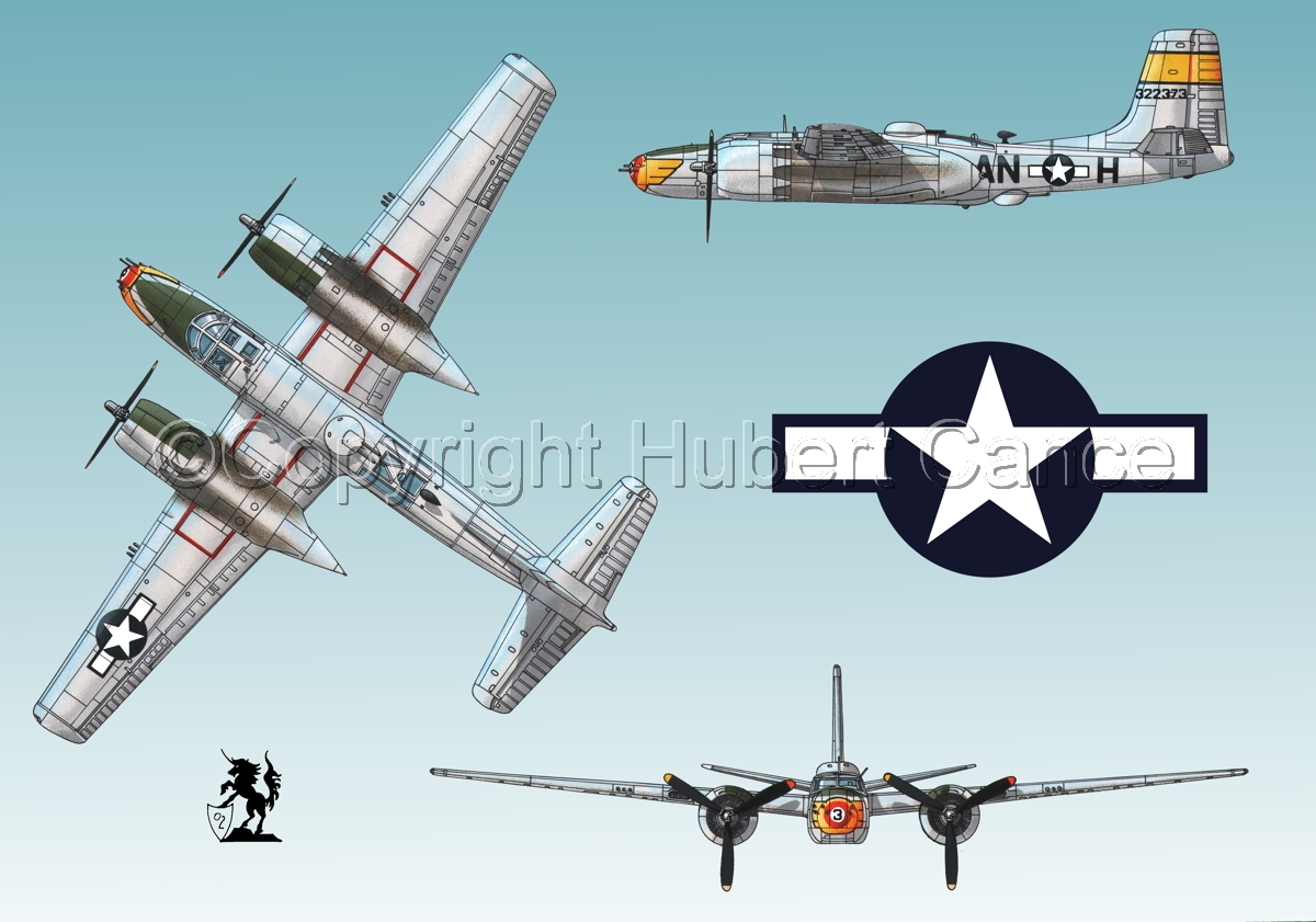 "Douglas A-26B ""Invader"" (Roundel #1.2) (large view)"